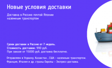 Доставка в ноябре 2020 года